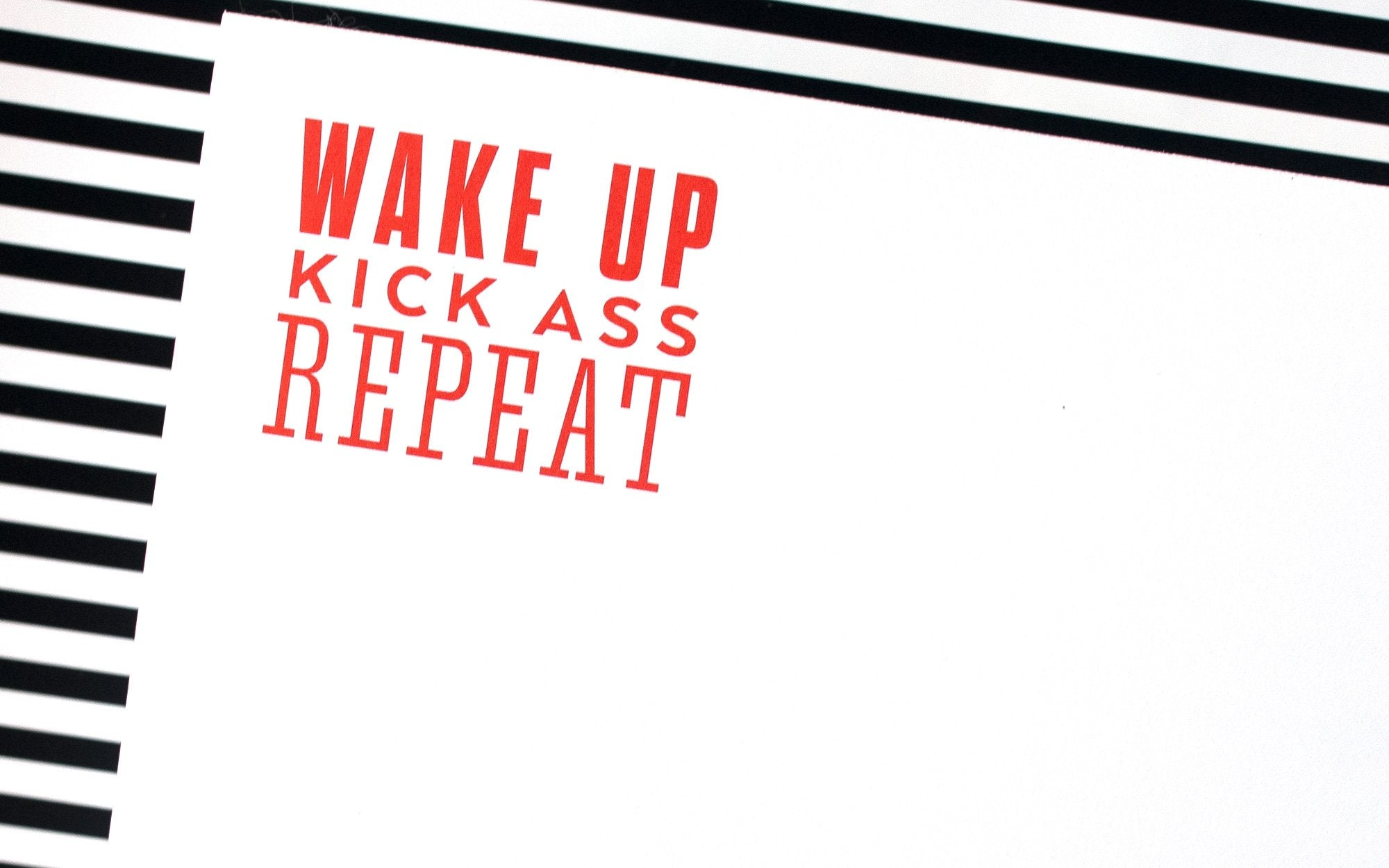 "Luxe Expressions Notepad ""Wake Up"""