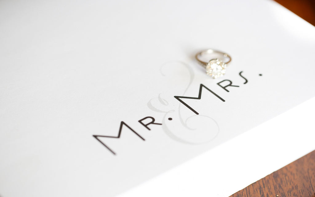 "Luxe Expressions Notepad ""Mr & Mrs"""