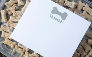 "Luxe Expressions Notepad ""Woof"""