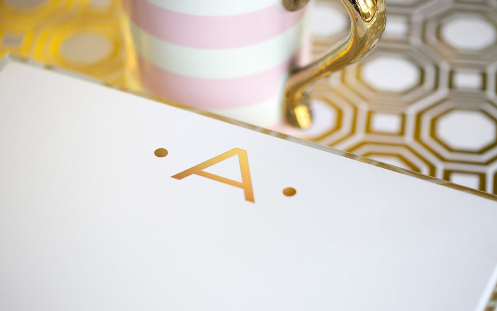 Luxe Gold Foil Initial Notepad