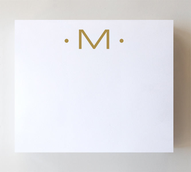 Luxe Gold Initial Notepad