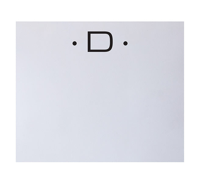 Luxe Initial Notepad