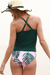 Palm Tree Print Cute Tankini Set