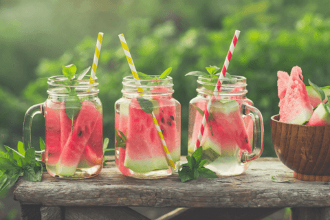 watermelon iced tea for 4th of july