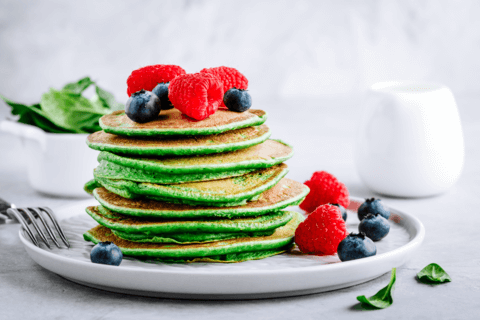 pancakes with super greens powder