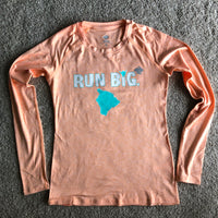 W's Run Big EZ-Tee LS - Heather Cantaloupe