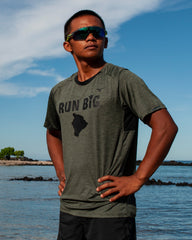 M's Run Big Alpha Tee - Beetle