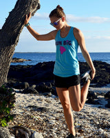 W's Run Big Inspire Singlet - Blue Atoll