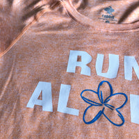 W's Run Aloha EZ-Tee - Heather Cantaloupe