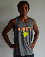 M's Run Big Inspire Singlet - Grey