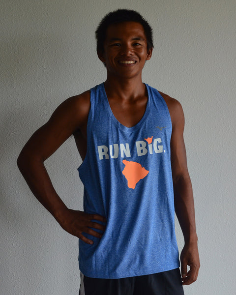 M's Run Big Inspire Singlet - Nautical Blue