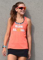 W's Run Aloha Racerback - Heather Orange