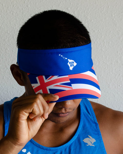 Run Big BOCO Visor - Hawaiian Flag