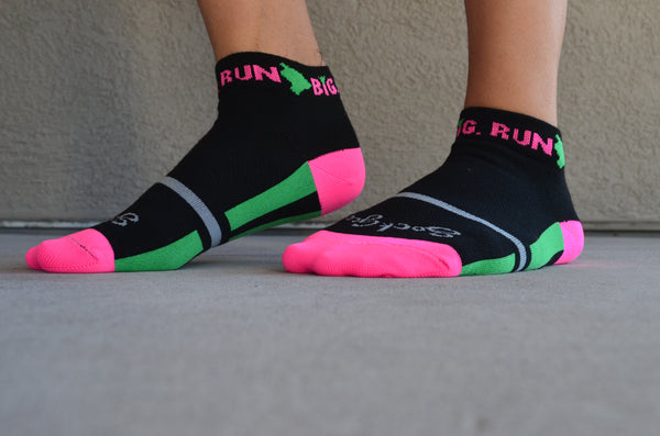Run Big Socks Black/Pink