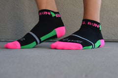 Run Big Socks Blk/Pnk