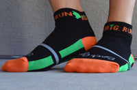 Run Big Socks - Black/Orange