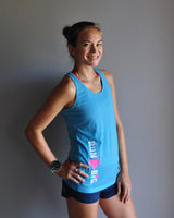 W's Run Big Inspire Singlet - Hawaiian Ocean
