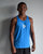 M's Run Big Champ Lite Singlet - Electric Blue Lemonade