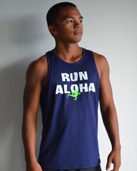 M's Run Aloha Podium Tank - Navy