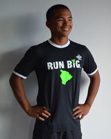M's Run Big EZ-Tee Ringer - Black+White
