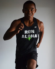 M's Run Aloha NB Ice 2.0 Singlet - Black