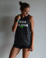 W's Run Aloha Relentless Tank - Heather Black
