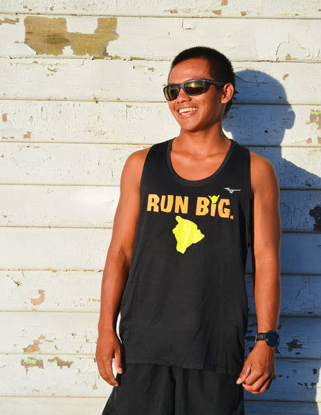 M's Run Big Inspire Singlet - Black