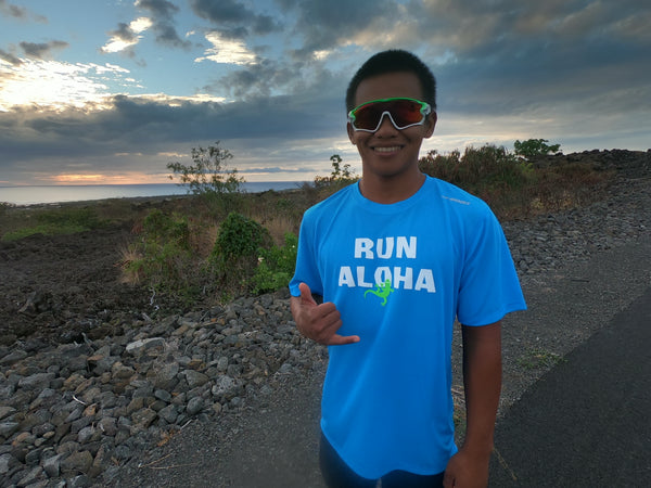 M's Run Aloha Podium Tee - Ultra Blue