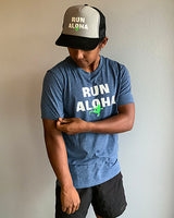 M's Run Aloha Inspire Tee - Estate Blue