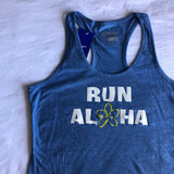 W's Run Aloha Inspire Singlet - Royal