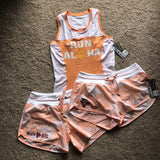 W's Run Aloha Flash Tank - Cantaloupe/White