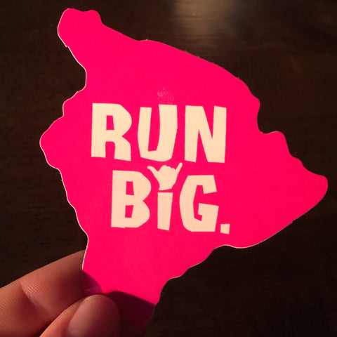 Run Big Sticker - Island