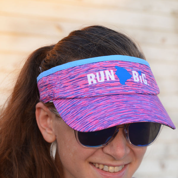 Run Big BOCO Adjustable Visor - Pink Dash
