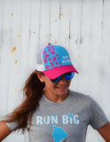 Run Aloha BOCO Trucker Hat - Pink/Blue/White