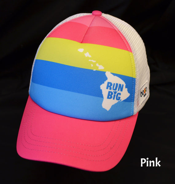 Run Big BOCO Trucker Hat - Pink Stripe