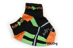 Run Big Socks Blk/Org