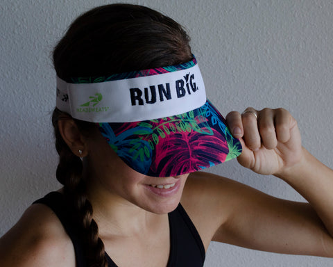 Run Big Tropical Visor