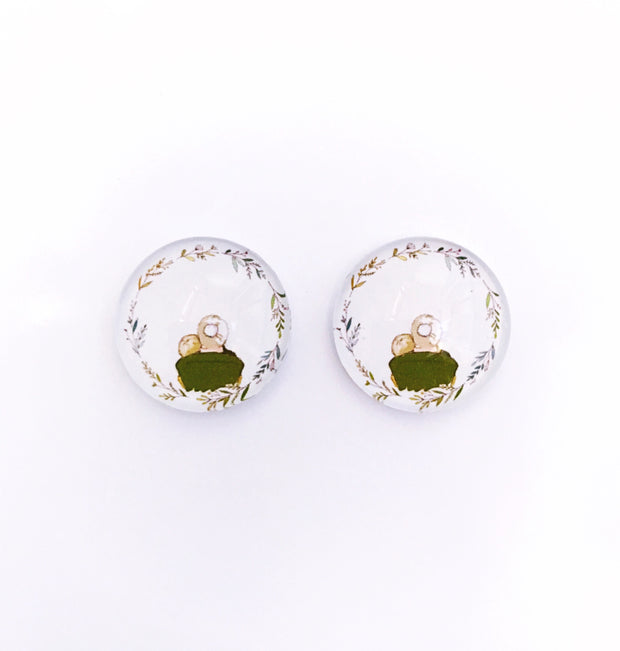 The 'Grandma' Glass Earring Studs