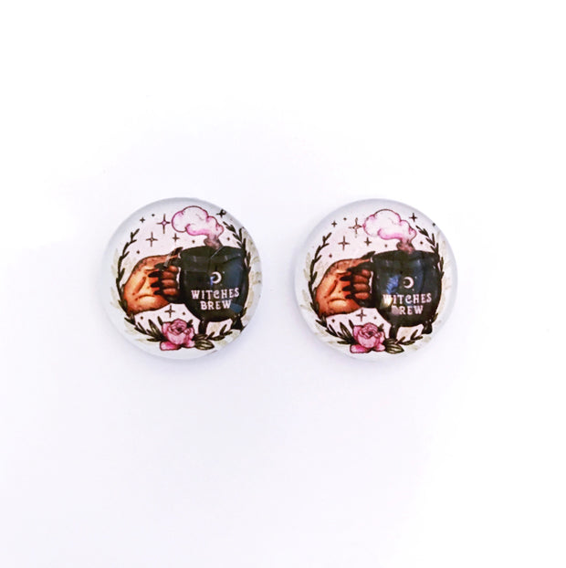 The 'Witches Brew' Glass Earring Studs