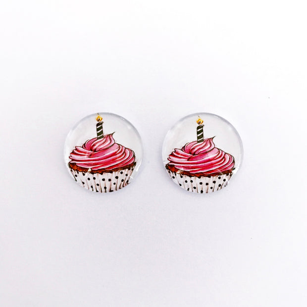 The 'Happy Birthday' Glass Earring Studs