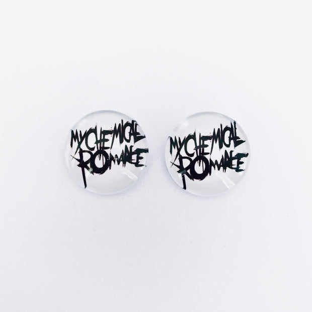 The 'My Chemical Romance' Glass Earring Studs