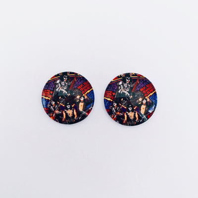 The 'Kiss' Glass Earring Studs