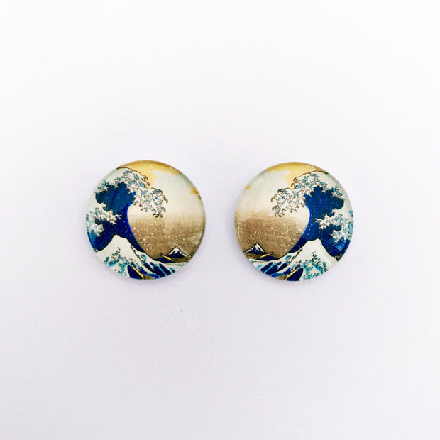 The 'Japanese Wallpaper' Glass Earring Studs