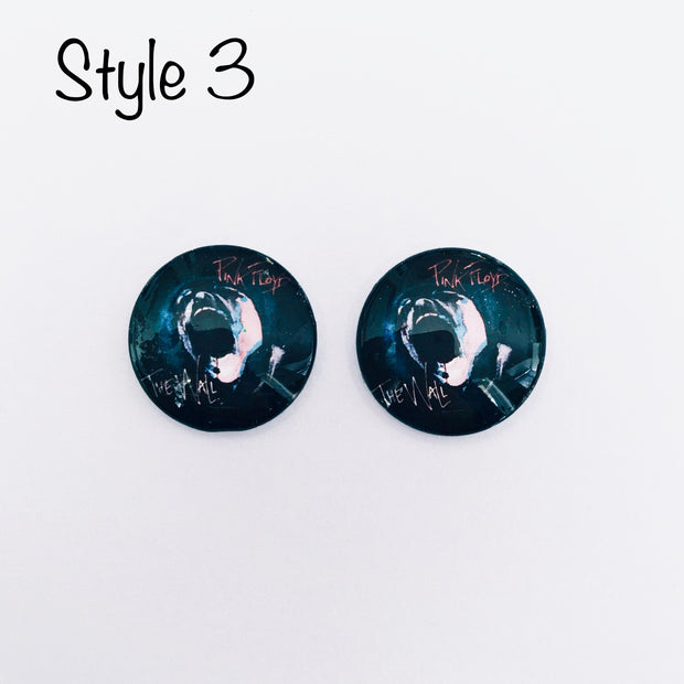 The 'Floyd' Glass Earring Studs