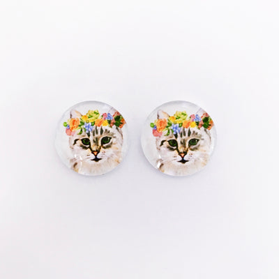 The 'Nora' Glass Earring Studs
