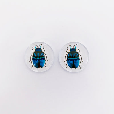 The 'Beetle' Glass Earring Studs