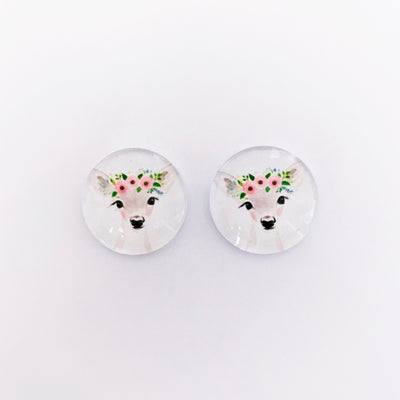 The 'Autumn' Glass Earring Studs