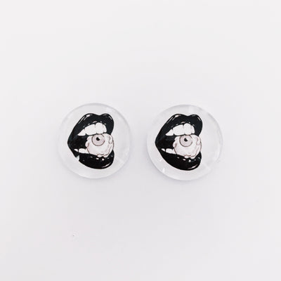 The 'Vivian' Glass Earring Studs