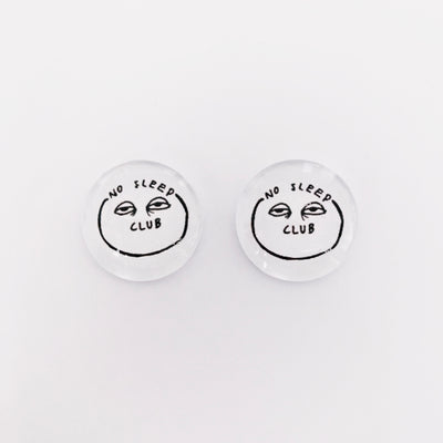 The 'No Sleep Club' Glass Earring Studs