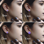The 'Elizabeth' Glass Earring Studs